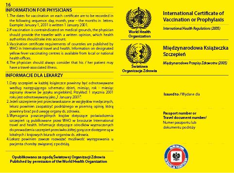 Międzynarodowa Książeczka Zdrowia druki medyczne
