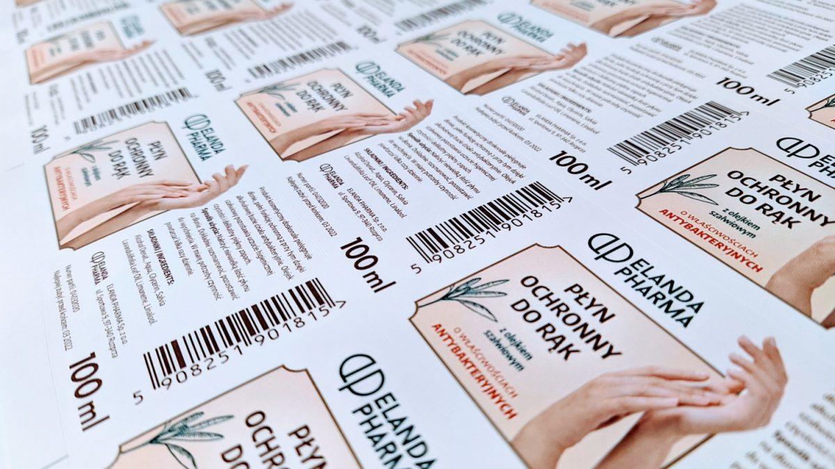 Etykiety samoprzylepne druk